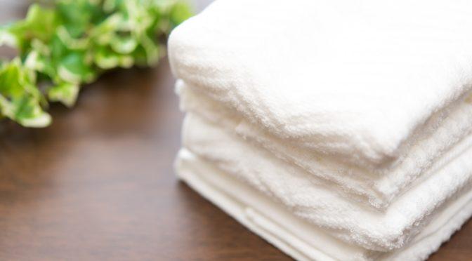 洗顔後のタオルの拭き方